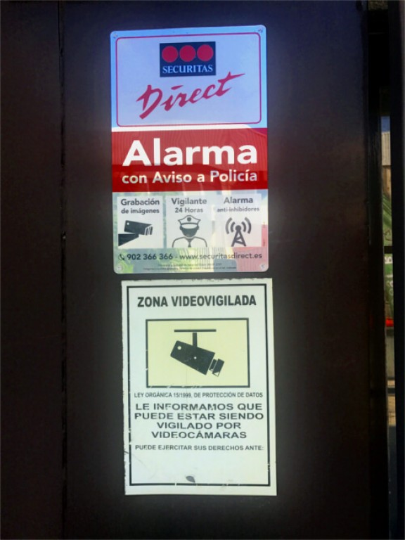 Alarmas Securitas Direct en parking low cost barajas